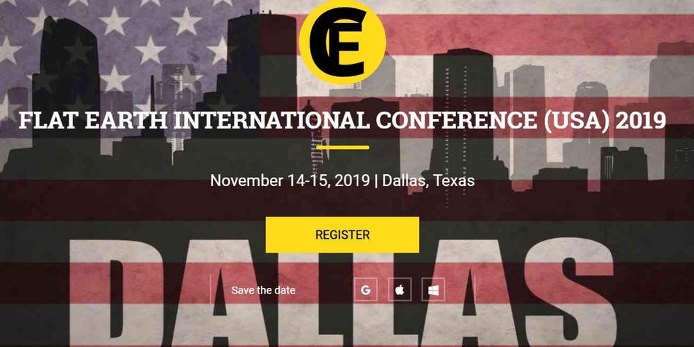 Dallas Flat Earth Conference, NOV 14-15, 2019